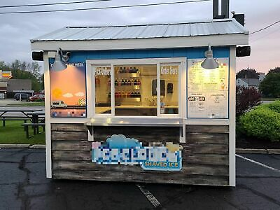 2012 - 8 X 10 Eye-catching Shaved Ice Snowball Concession Stand For Sale In Wi