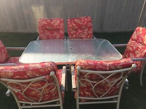 Summer table made out of Solid Glass