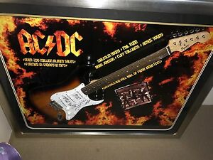 AC/DC signed guitar Clarkson Wanneroo Area Preview