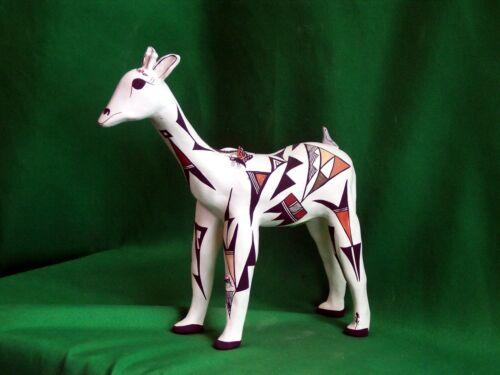 Acoma Giraffe Effigy by Judy Lewis - Incredible!