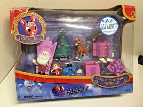 RUDOLPH THE RED NOSED REINDEER MISFIT CHRISTMAS FIGURINE SET, NEW IN BOX