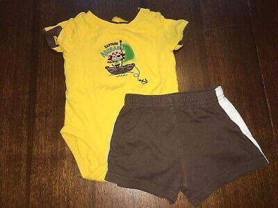 Baby Boys Bodysuit Shorts Set 6-9 Months Carters Garaninals