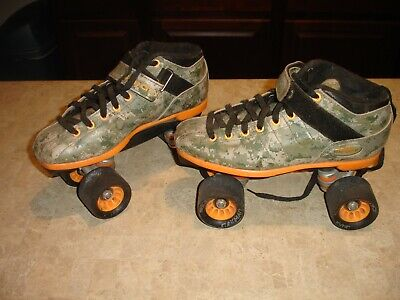 Riedell R3 Camo Roller Skates, Size 8