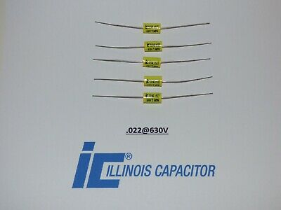 Illinois .022uf 630vcapacitors Polypropylene Film Axial Lead Capacitor Set5