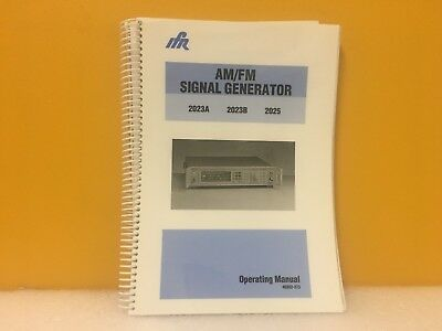 Ifr 46882-373 Am Fm Signal Generator 2023a 2023b 2025 Operating Manual