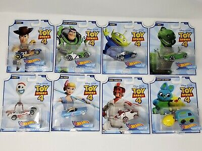 New 2019 Hot Wheels [Disney Pixar Toy Story 4] Character Cars Woody Buzz + More - 4 New Hot Wheels