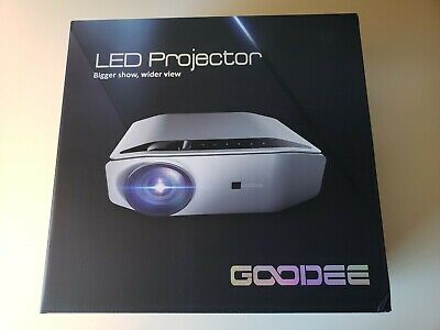 "GooDee YG620 Native 1080p Projector 6800 Lux 300"" Full HD LCD Video 1920x1080"