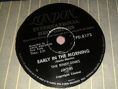 THE RINKY- DINKS (BOBBY DARIN) : EARLY IN THE MORNING / NOW WE'RE ONE. SA.78rpm