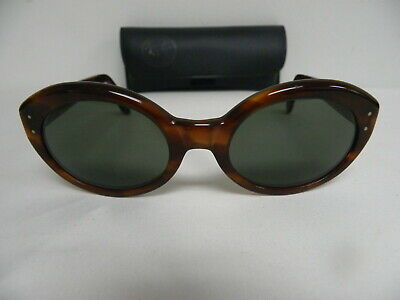 Vintage B&L Ray Ban Retro Bewitching Tortoise G-15 W0957  Sunglasses (Ray Ban Retro Cat Eye Sunglasses)