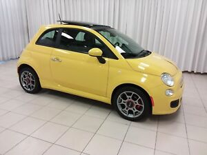 2012 Fiat 500 2DR. SPORT. FUN TO DRIVE HATCHBACK !! w/ POWER SUN