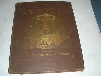 Antique 1885 Charles Lubrecht's Pictorial & Comprehensive Atlas of the World