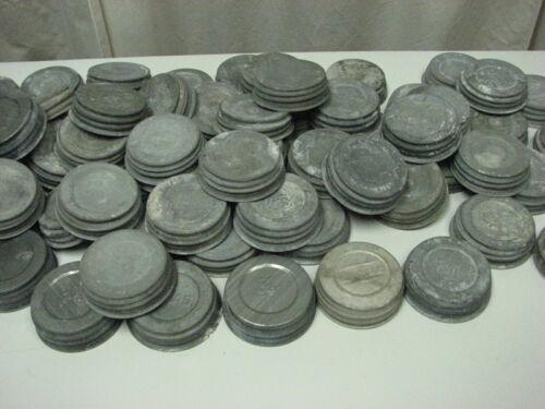 12 used Zinc lids Porcelain Lined  Ball,  Atlas, Presto & Unmarked