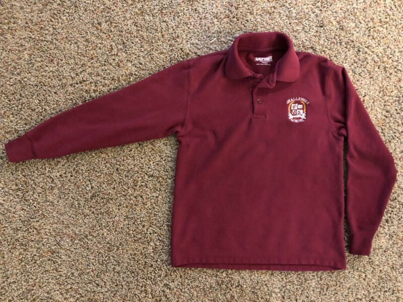 Challenger School L/S Burgundy Polo Shirt Size: Youth M