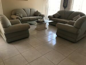 Couches, sofa set dining table with glass top and display stand