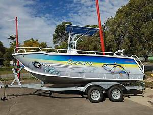 19ft Plate Alloy Centre Console Fishing Boat Clontarf Redcliffe Area Preview