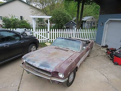 1965 Ford Mustang Black 1965 Mustang Convertible, Project car. V-8 c-code all Original Automatic PS 1966