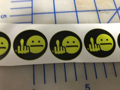 Funny F IN SMILEY FACE Hardhat Welding Helmet Sticker Construction Decal