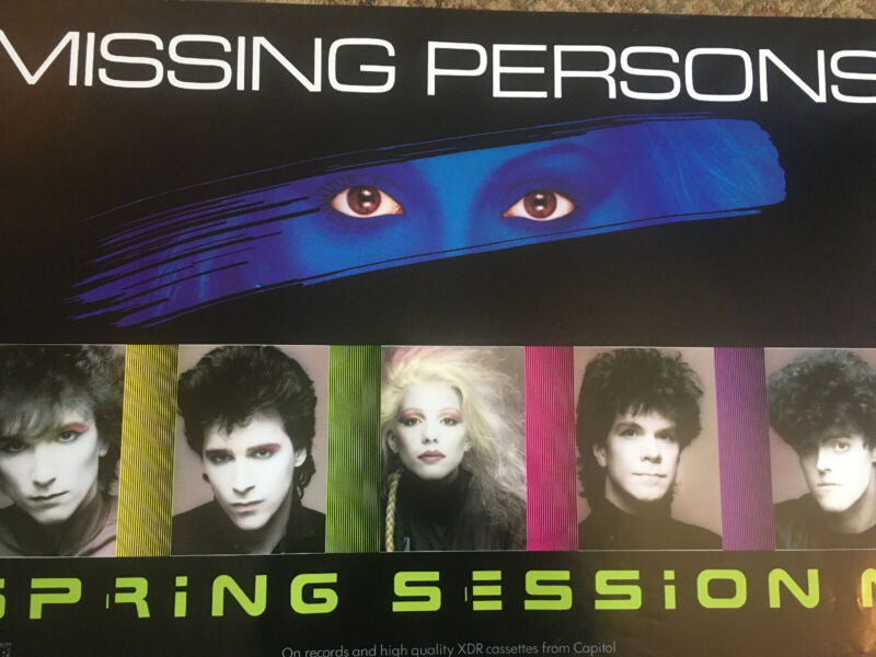 Dale Bozzio Missing Persons Spring Session M Poster Authentic And Rare Promo '82