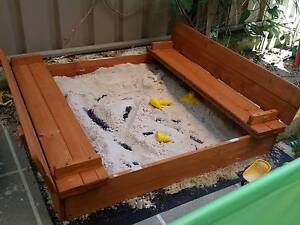 Kids Sandpit with Foldable Benches Bayswater Bayswater Area Preview
