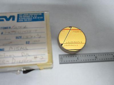 Optical Gold Coated Mirror Mil Spec Laser Optics As Is Binl5-36