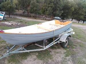 Dingy 12ft Fyglass on trailer with 2 Hp Suzuki Outboard Lewisham Sorell Area Preview