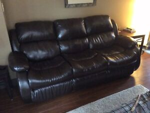 Ashley Furniture leather massage couch