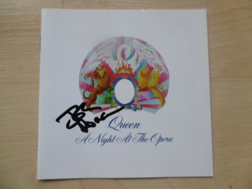 """John Deacon """"Queen"""" Autogramm signed CD Booklet """"A Night At The Opera"""""""