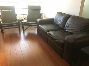 REDUCED PRICE: Natuzzi / IKEA living room set