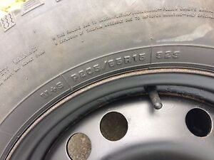 4 winter tires with rims 205/55/15 (5x114.3)
