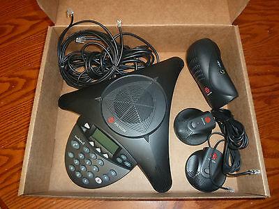 Polycom Soundstation2 Soundstation 2 Ex Phone W 2 Mics Power Guarantee Working