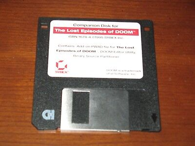 """Lost Episodes of Doom PC 3.5"""" Companion Disk only Sybex"""