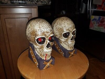 RARE 2 Vintage Pirate skull Sounds Prop Rare Halloween