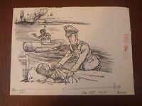 U Boat Submariners Commandos Etc Pen & Ink Orig 20th C Illus,bill Hewison, Art E - commando - ebay.co.uk