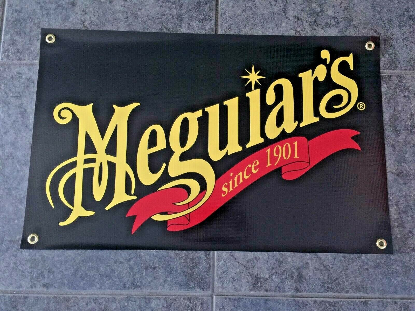 Meguiar's Since 1901 banner sign shop garage detailing wax d