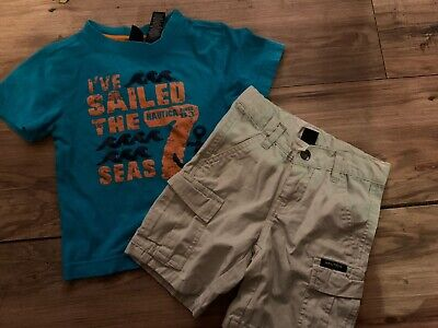 Nautica Boys Shorts Outfit Size 2T Sailed The 7 Seas