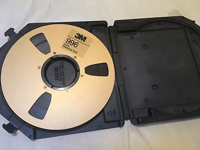Vintage Mastering Tape 3M 996 Plastic Case 2500'