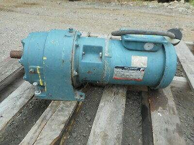 Reliance Electric Ac Motor 208230v 1hp Model P56h1441v-nt With Speed Reducer