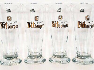 Bitburger Pilsner Germany Beer Glasses .25L Lot Of 4 Bitte Ein Bit