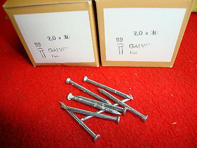 200 St Nägel 2x23 Stahlnägel verzinkt 2,0 x 23 galv zinc 1927