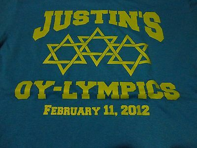 Olympic Theme JEWISH BAR MITZVAH Justin Party T Shirt FREE Shipping size - Olympic Themed Party