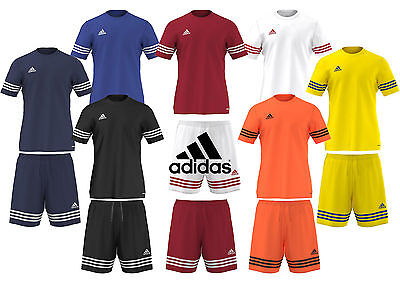 ADIDAS MENS ENTRADA 14 CLIMALITE SHIRT SPORTS GYM SHORTS TRAINING FOOTBALL GYM