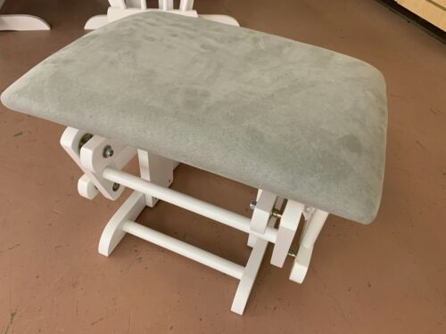 Replacement Gliding Ottoman for Glider Chair - Gray Fabric & White Wood