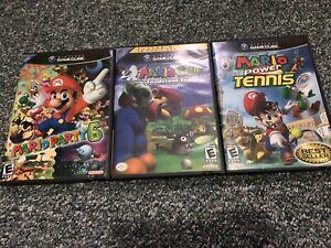 Gamecube Games - Mario Golf, Mario Tennis