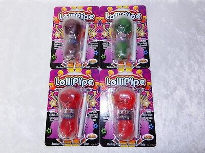 Lollipop Lollipipe Pipe Edible Flavored Reusable Candy Gag Gift
