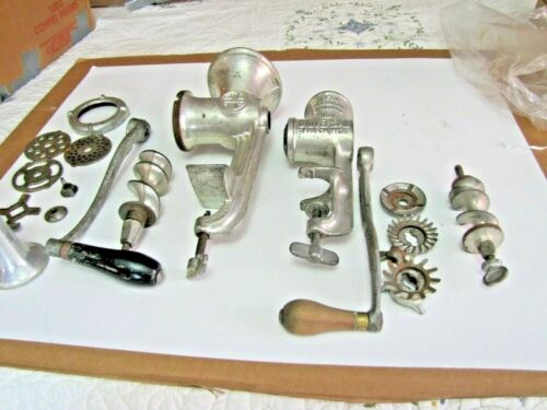 Griswold #4 Food Chopper w/Accessories + UNIVERSAL NO 1 Food Chopper