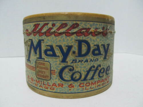 Millar May-Day Brand-Coffee Paper/Cardboard One pound Advertising Can