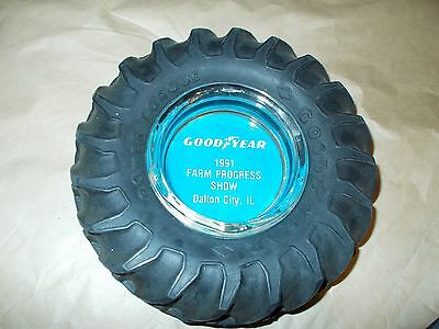 VINTAGE 1991 GOODYEAR TRACTOR TIRE ASHTRAY TIRE IS SOFT