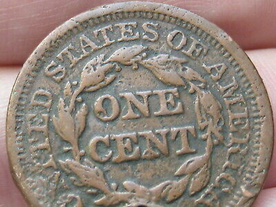 1846 Braided Hair Large Cent Penny Small Date, VG/Fine Details