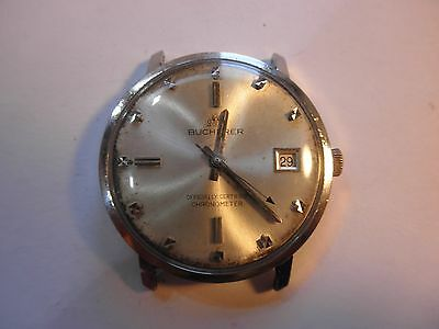 #81: Mens Vintage Bucherer Officially Certified Chronometer - eta 25 jewel auto