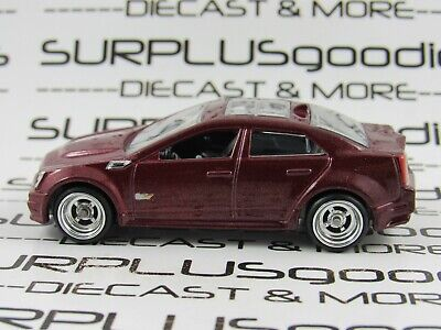 Hot Wheels 1:64 LOOSE Maroon 2009 CADILLAC CTS-V Custom SUPER w/Real Riders